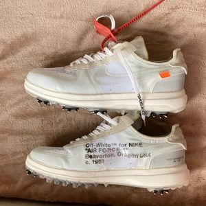 Nike Off White Air Force 1 golf shoe spiked 1of1